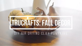 TruCrafts: Do It Yourself Air Drying Clay Pumpkins