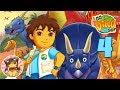 GO DIEGO GO: GREAT DINOSAUR RESCUE Walkthrough Gameplay Part 4 - EINIOSAURUS AND TRICERATOPS
