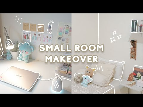 SMALL BEDROOM MAKEOVER 🌱 Minimalist On A Budget + Room Tour | Indonesia