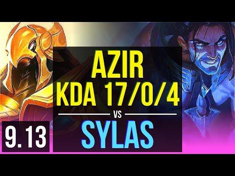 AZIR Vs SYLAS (MID) | 8 Early Solo Kills, KDA 17/0/4, 11 Solo Kills | Korea Master | V9.13