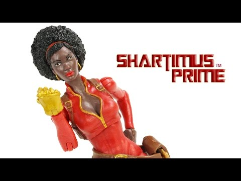 Marvel Legends Misty Knight 2015 Spider Man Rhino BAF Wave Toy Action Figure Review