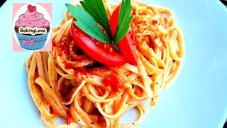 Nudeln in Tomate-Mozzarella Soße / Pasta wie bei Vapiano / vegetarisch