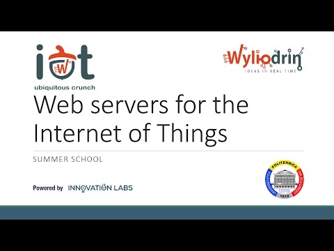 Lecture 6: Web servers for the Internet of Things