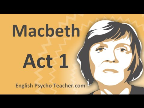 Macbeth Act 1 Summary with Key Quotes & English Subtitles