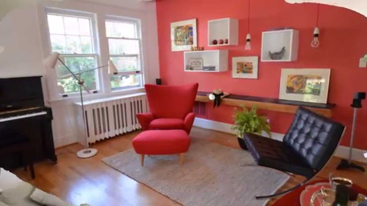 Int rieur couleur tendance pour un salon confortable youtube for Decoration mur interieur