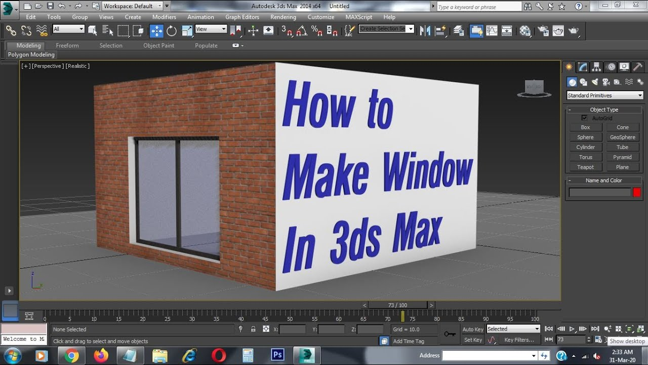 how to create windows in 3ds max