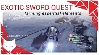 Destiny Exotic Sword Quest - A Sword Reforged: Essential Elements [Farming] [Soliton flares]