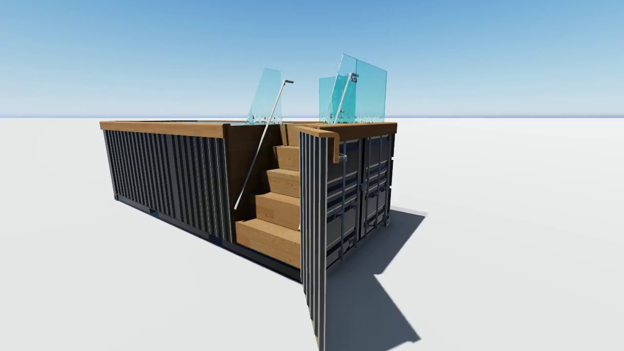 piscine container par kaseo groupe youtube. Black Bedroom Furniture Sets. Home Design Ideas