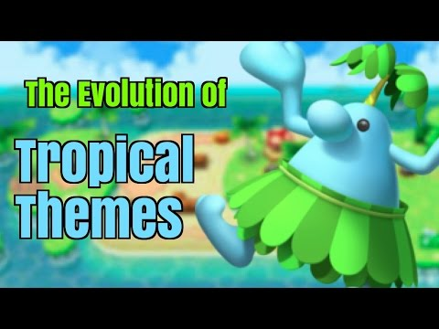 Every Super Mario Bros Tropical Theme | Evolution of Mario Music