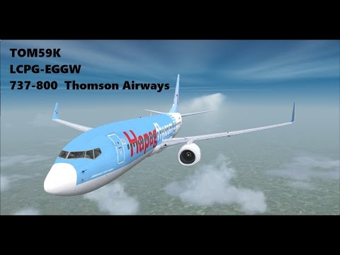 FSX | LCPH-EGGW | TOM59K | 737-800 | Full Flight |