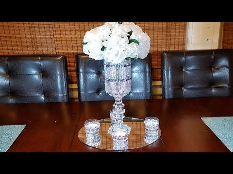 DIY Glam Silver Centerpiece