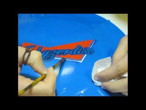 """How to Dye a Disc Golf Disc using Multiple Colors - """"Peel & Paint"""""""
