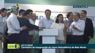 Bolsonaro inaugura usina de Belo Monte