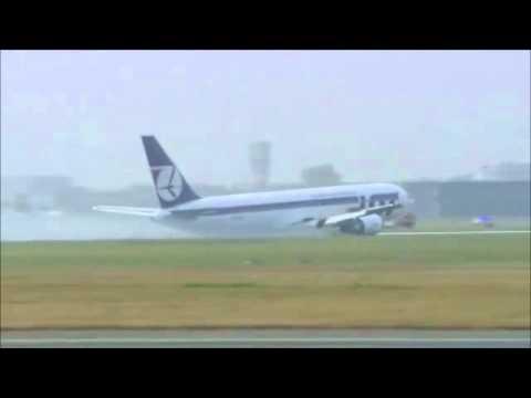 Flugzeugnotlandung in Warschau