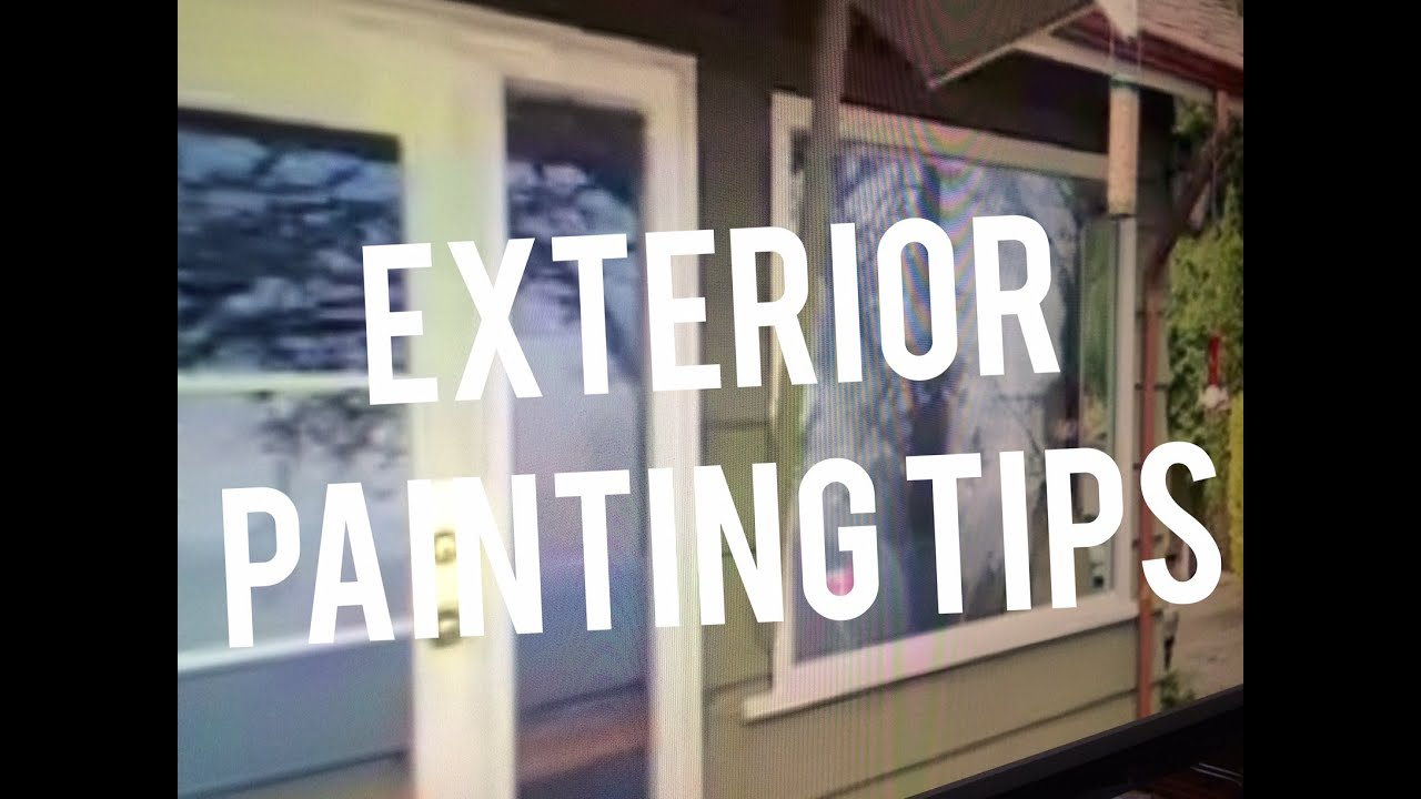Exterior painting ideas tips for home window and door for Exterior mural painting techniques