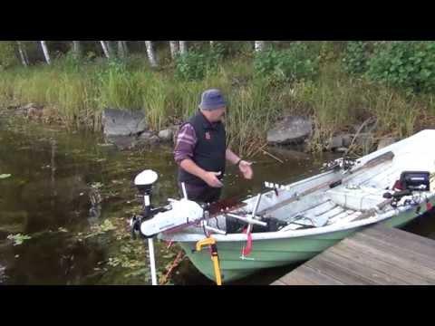 Оборудование лодки типа Пелла для рыбалки