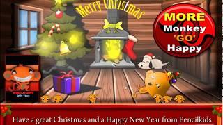 [Pencil Kids] Monkey GO Happy Christmas Walkthrough