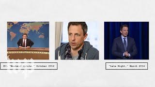 Seth Meyers was on SNL for 12 years. It still has a big impact on 'Late Night.'