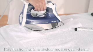 Rowenta Iron Use & Care -  Cleaning the iron soleplate