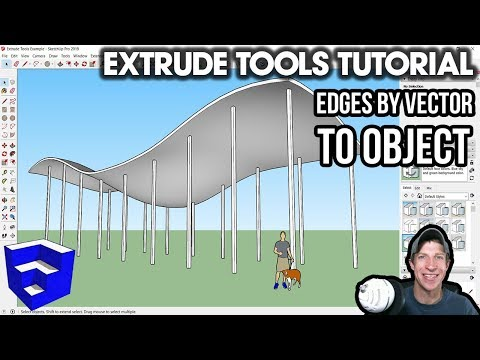EXTRUSION TOOLS TUTORIAL - Edges By Vector To Object - Easy Columns For Organic Shapes!