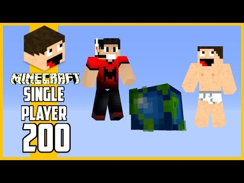 Luis joga Minecraft - Visita ao Mundo c/ Viniccius13 - Ep.200