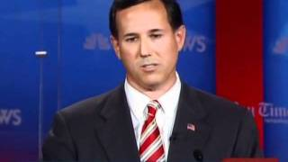Santorum on capitalism and bailouts