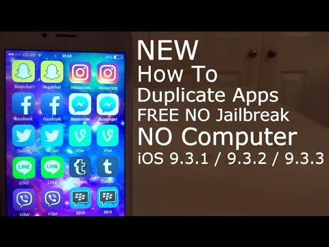 NEW How To Duplicate Apps FREE iOS NO Jailbreak NO Computer iPhone, iPad &  iPod Touch