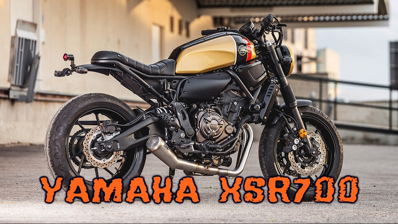 Yamaha XSR700 custom - YouTube