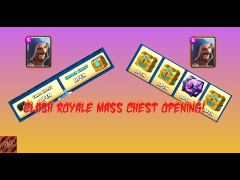 CLASH ROYALE MASS CHEST OPENING!!! CAN WE PULL A LEGENDARY???