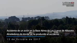 Imágenes zona próxima accidente avión Base Aérea de Los Llanos Albacete - 12-10-17