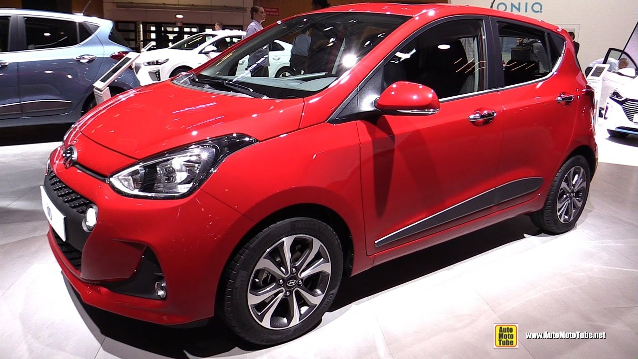2017 hyundai i10 exterior and interior walkaround 2016 paris motor show youtube. Black Bedroom Furniture Sets. Home Design Ideas