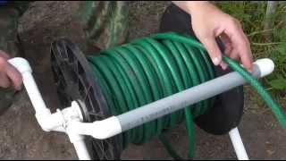 Улучшенный  (упрощенный) вариант катушки из полипропиленновых труб для шлангов полива