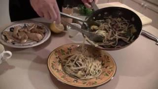 Peter Vamos Cooks Lemon Chicken Tenders With Fresh Linguine