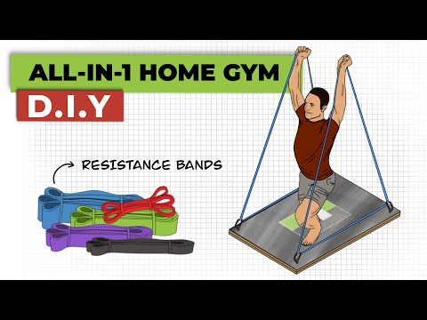 How To Build A Full Body Resistance Band Trainer | The Best Equipment For A Home Gym