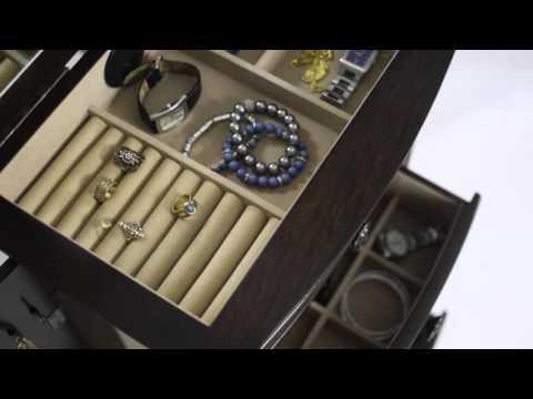 Landry Jewelry armoire in Dark Walnut ~ www.hivesandhoney.com