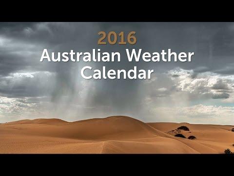 Australian Weather Calendar 2016