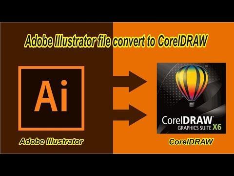 Chuyển đổi tệp Adobe Illustrator sang CorelDRAW