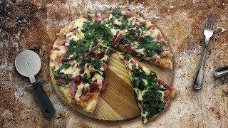 Быстрая пицца без муки на сковородке !