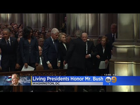 Presidents, Nation Mourn Passing Of George HW Bush In Washington Funeral
