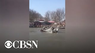 Nearly 100 killed when ferry capsizes in Iraq