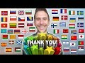 How To Say THANK YOU In 50 Different