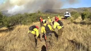 entremedio de la amenaza son solo ellos - incendios forestales