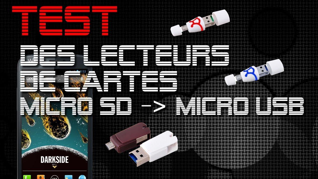 test carte micro sd Test du Lecteur de carte MicroSD vers USB/MicroUSB OTG de