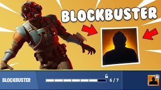 *WORLDS FIRST* 'Blockbuster' FREE SKIN GAMEPLAY! Week 7 Challenges (Fortnite Battle Royale)
