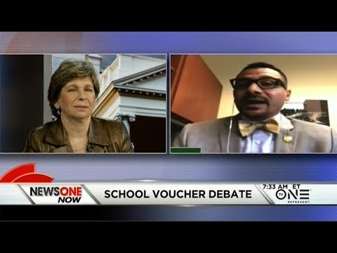 Dr. Steve Perry And Randi Weingarten, President Of The AFT Battle Over School Vouchers