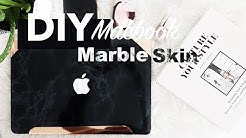 DIY $20 Macbook Marble and Rose Gold decal cover