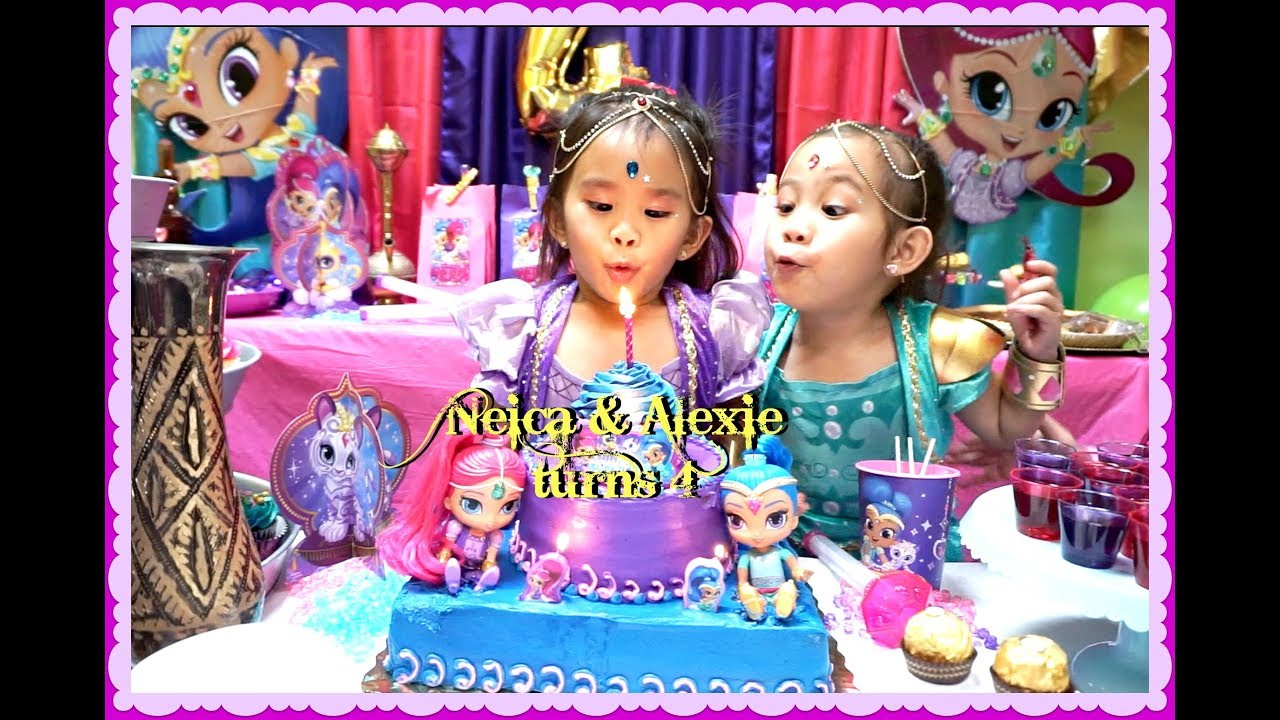 A Shimmer And Shine Themed Birthday Party Youtube
