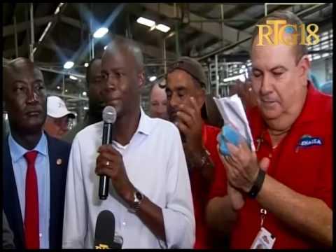 Le Président de la République Jovenel Moïse a effectué une visite à la compagnie SHAISA