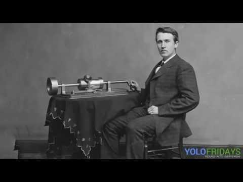 One of the earliest sound recordings (Thomas Edison, 1906)
