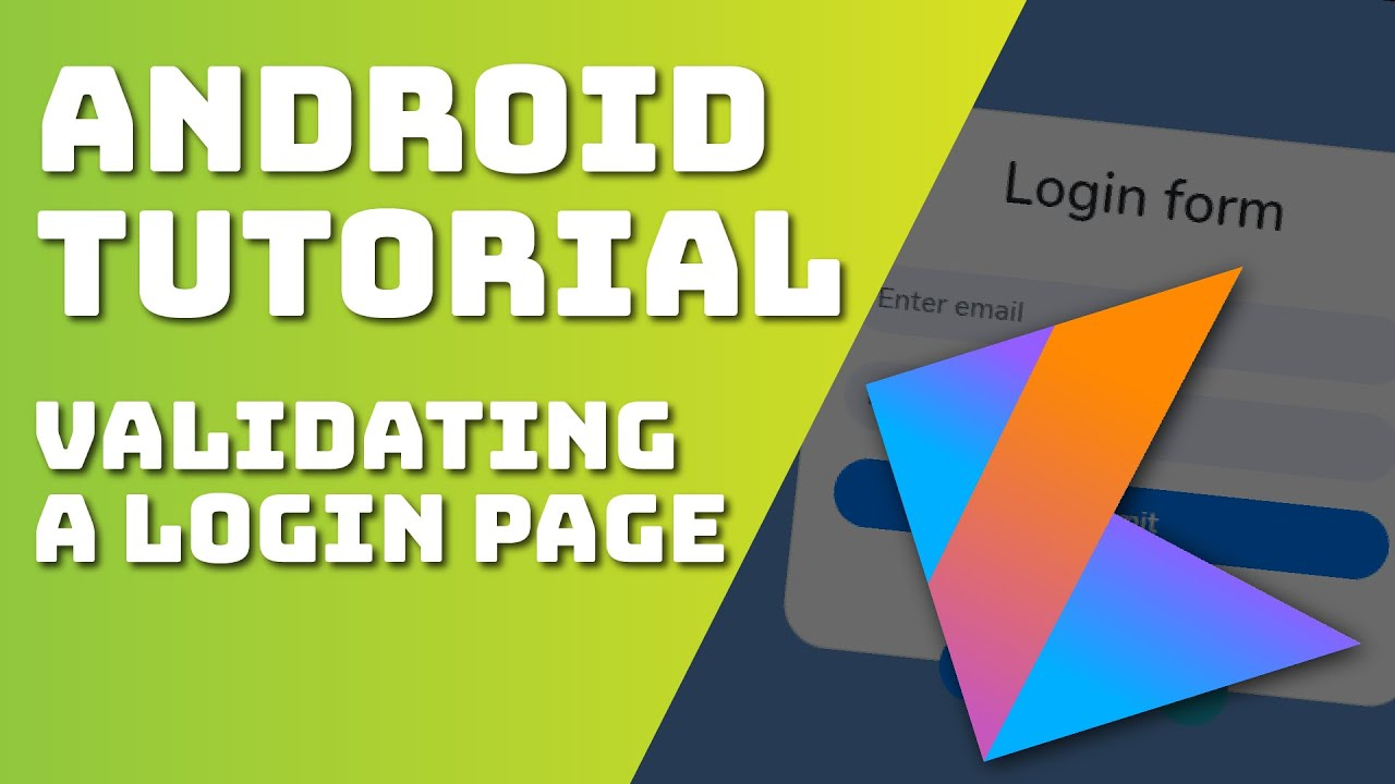 Kotlin Beginner Tutorial 2021 How to Validate a Login Form (Android)
